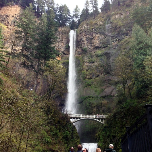 Multnomah Falls, the tallest waterfall in the Columbia River Gorge National Scenic Area.