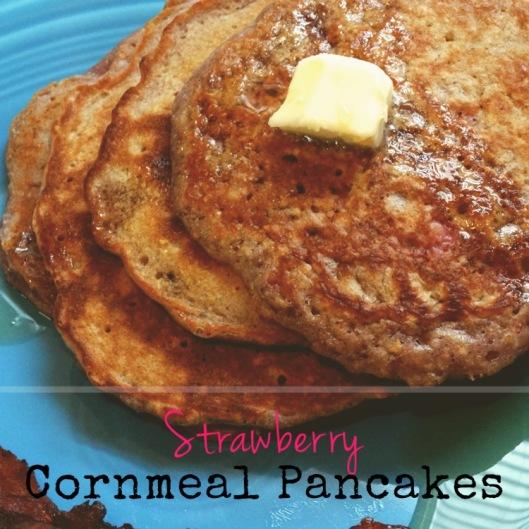 Strawberry Cornmeal Pancakes | Marta in Chicago