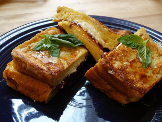 Stuffed French Toast with Strawberry Basil Preserves | Marta in Chicago